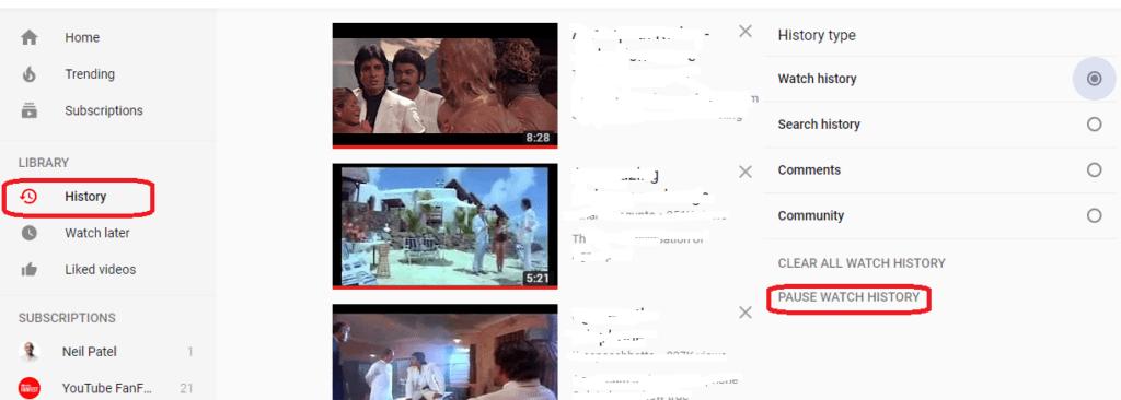 YouTube History कैसे डिलीट करे - http://hindipost.net