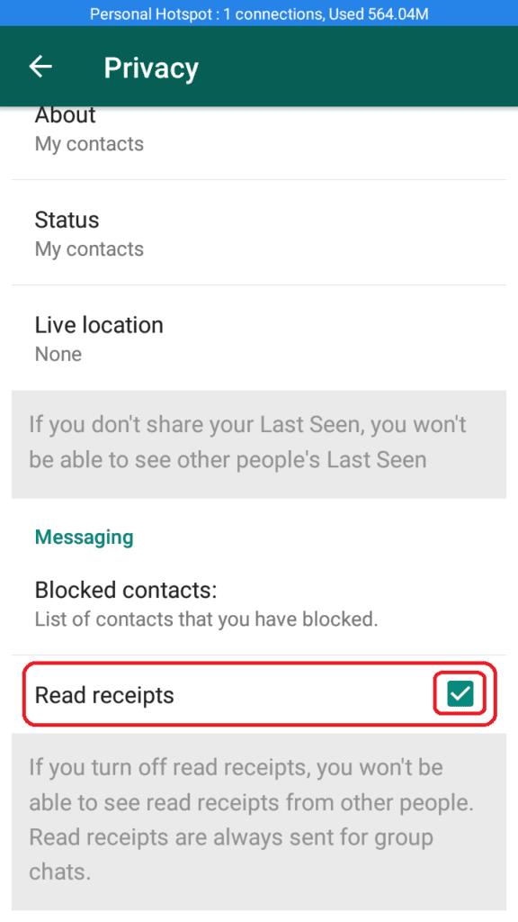 WhatsApp ब्लू टिक