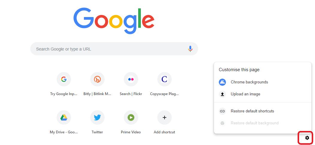 गूगल क्रोम पेज के बैकग्राउंड कैसे चेंज करें